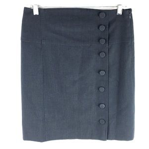 Elevenses Skirt Dark Gray Size 4 Knee Length 4A